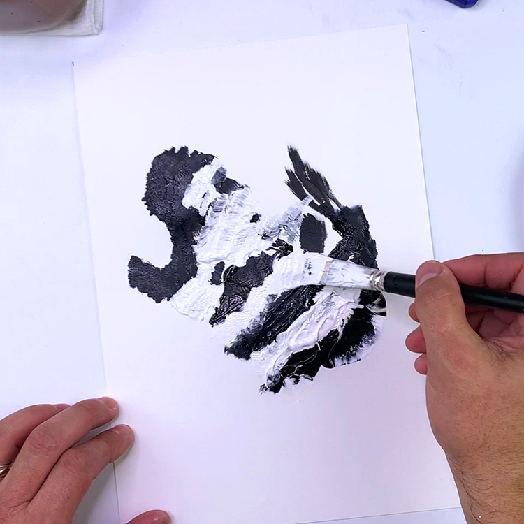 Learn to paint with acrylic paints for kids - Hand Painting - Hand Print Painting