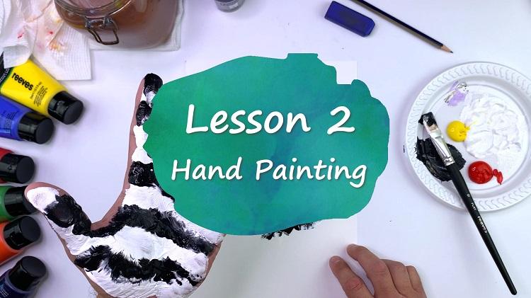 LESSON 2 - Hand Print Animals