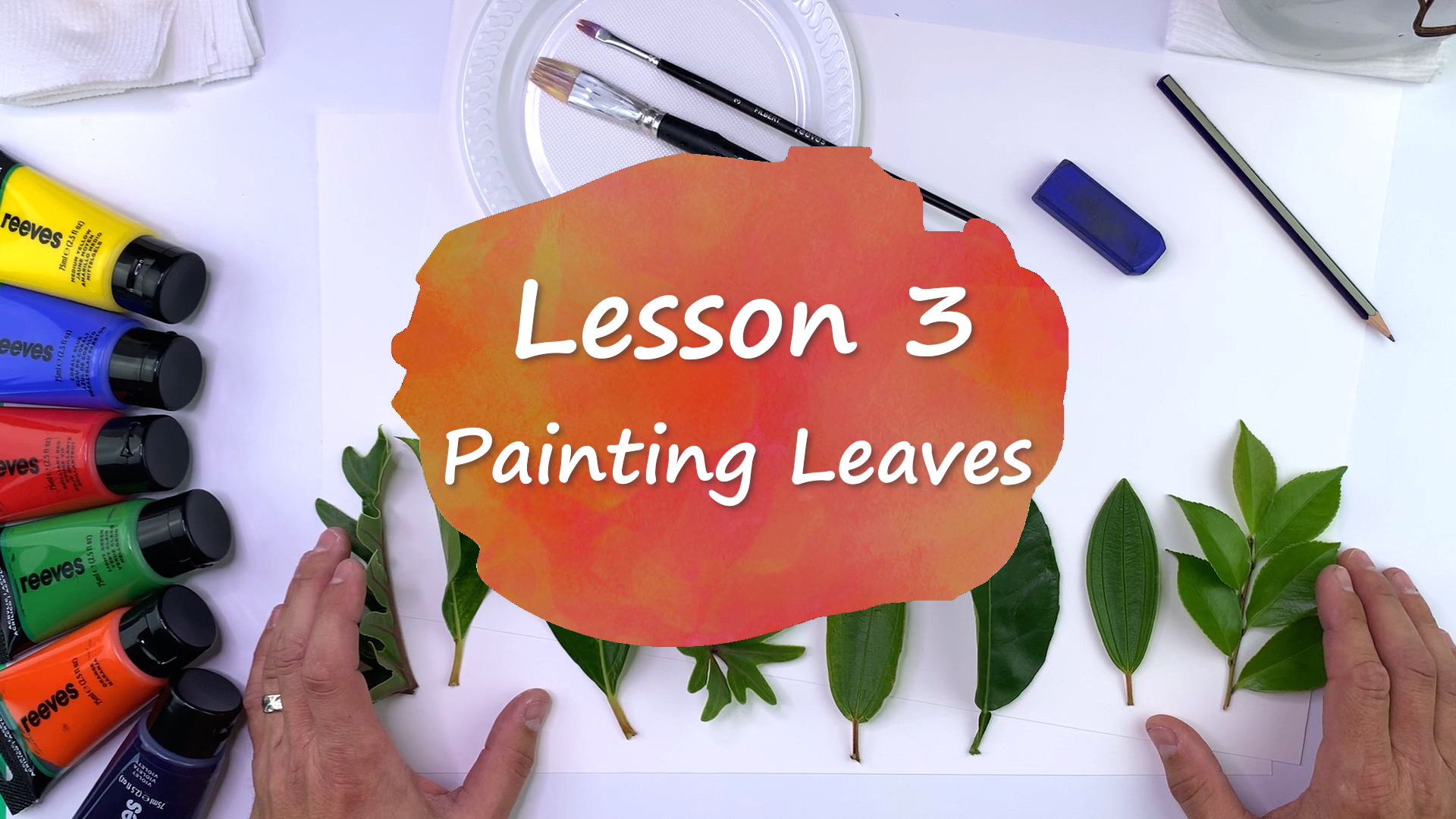 Painting Leaves and Creating Leaf Prints