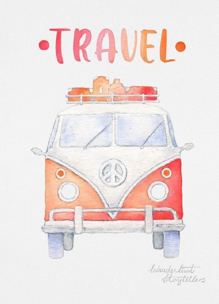 A Travel Journal For Kids - Andrzej Ejmont - Illustrations for the Book